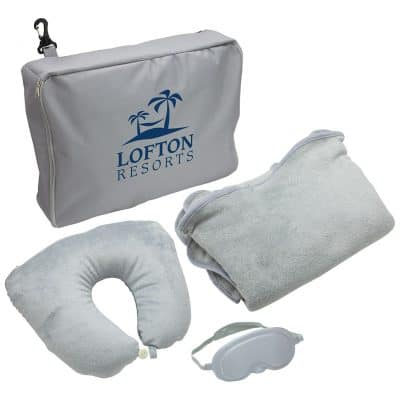 3-Piece Travel Pillow & Blanket Set