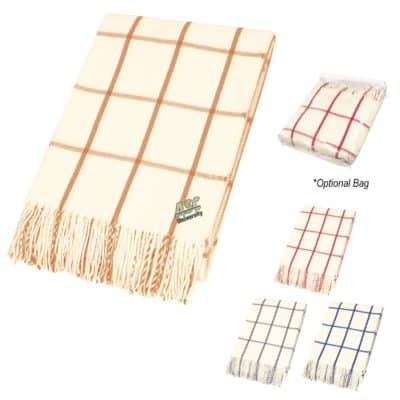 Charleston Fringed Throw Blanket