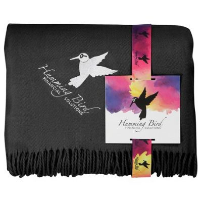 Acrylic Throw Blanket with Full Color Card