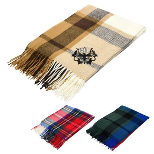Manchester Fringed Throw Blanket