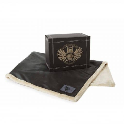 Faux Leather Throw (Laser Patch)