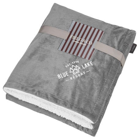 Field and Co.® Corduroy Sherpa Blanket