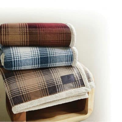 Cottage Plaid Throw (Laser Patch)