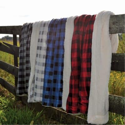 Buffalo Check Challenger Lambswool Throw (Embroidery)