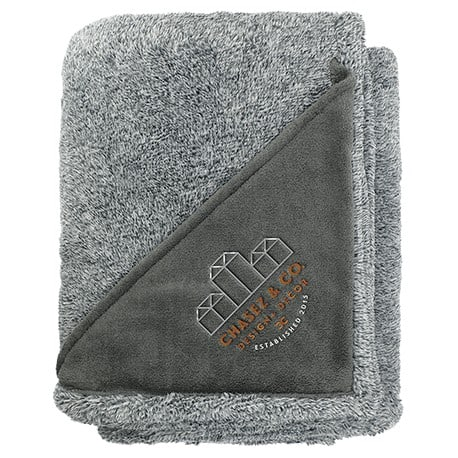Heathered Fuzzy Fleece Blanket