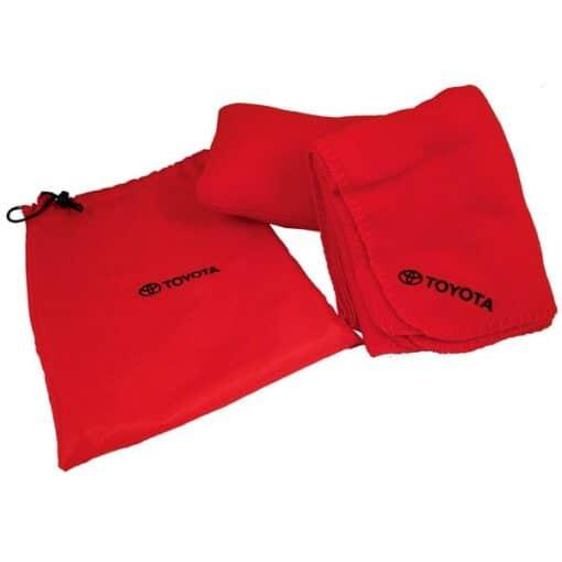 Fleece Blanket/Pillow All-in-1 Travel Set w/Nylon Bag