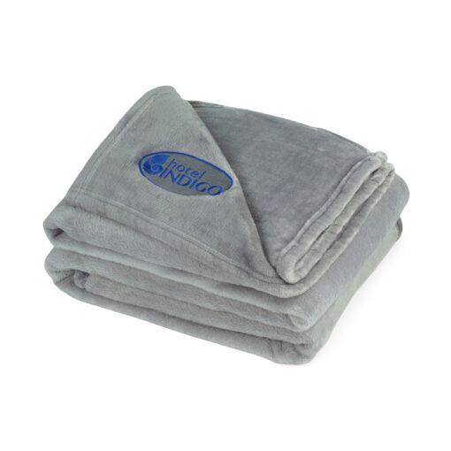 Serenity Plush Throw Blanket - Grey