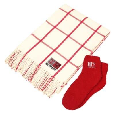 Charleston Throw & Fuzzy Socks Set
