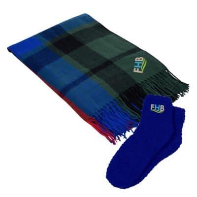 Manchester Throw & Fuzzy Socks Set
